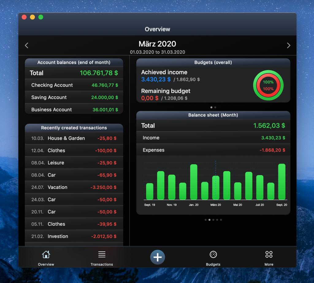 MoneyStats on your Mac