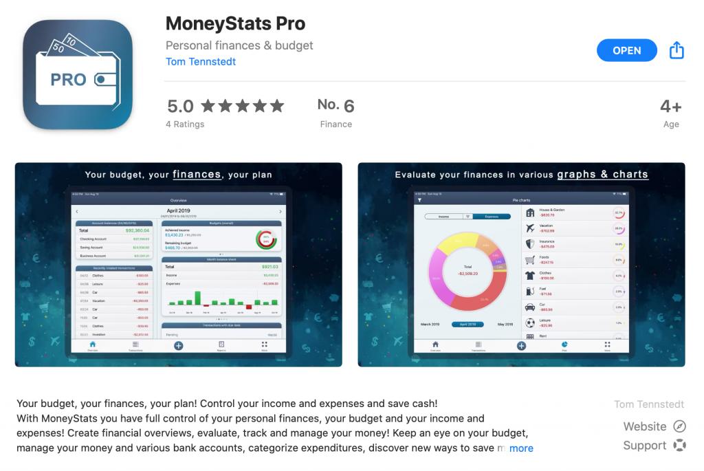 MoneyStats - Mac App Store