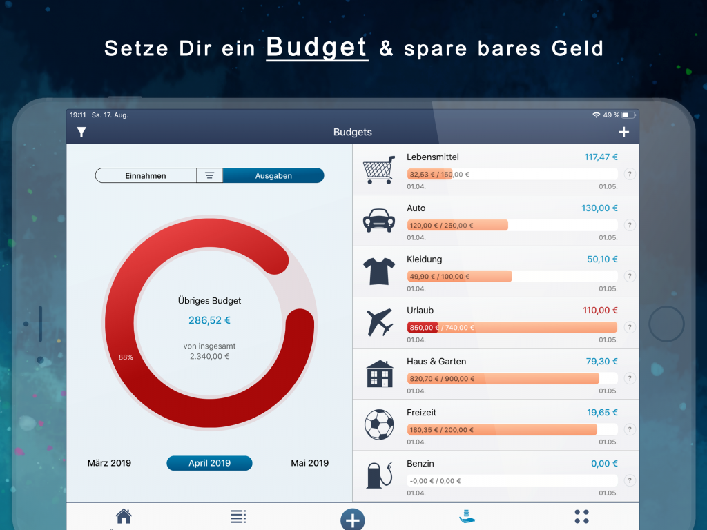 MoneyStats - iPad screenshot