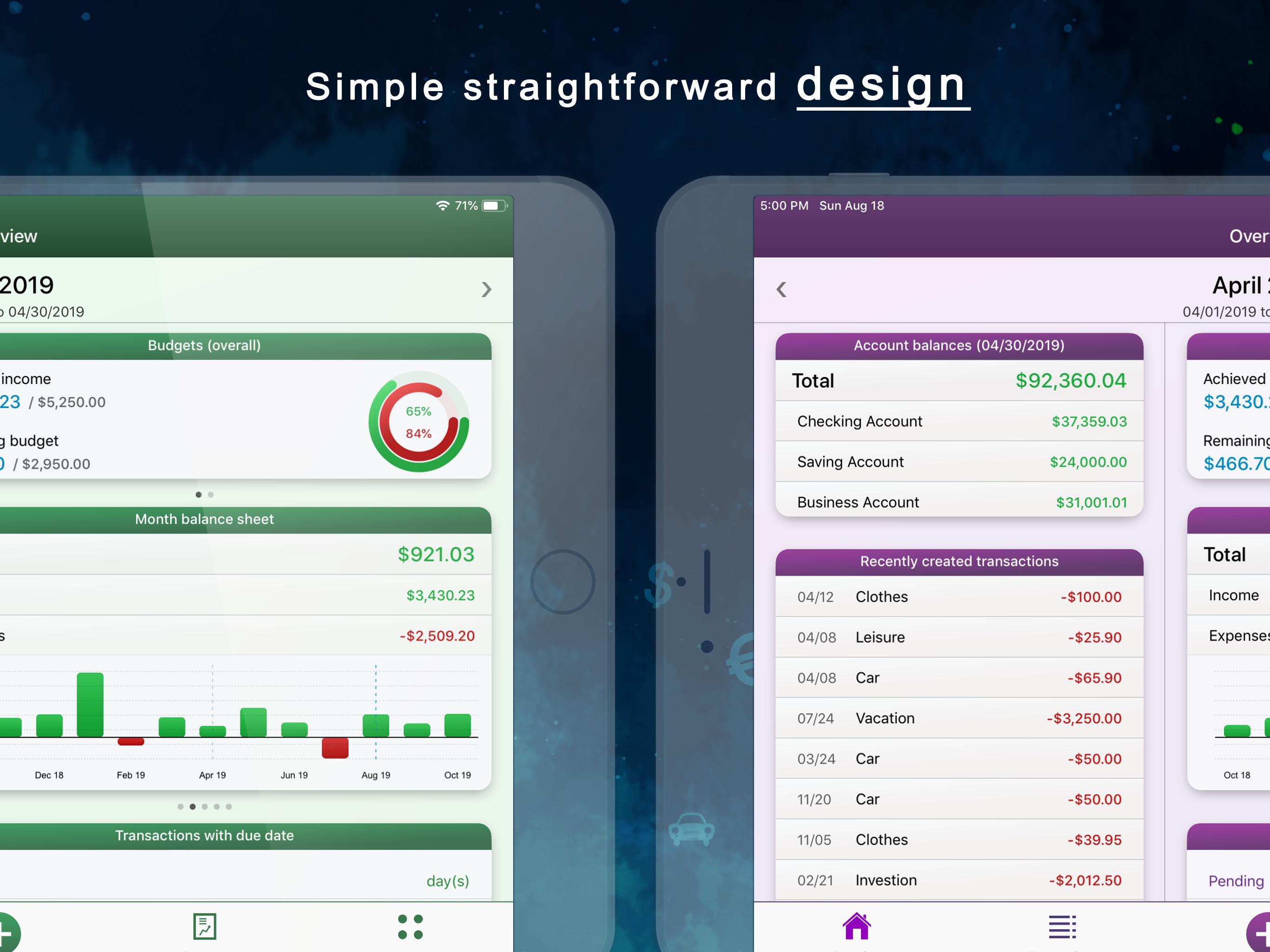MoneyStats - iPad screenshot